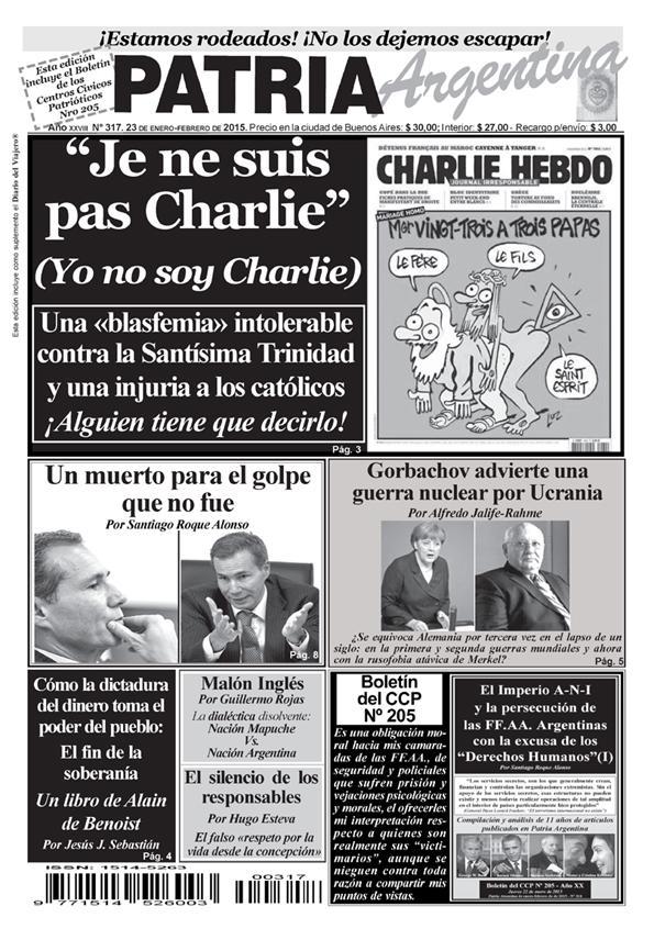 Periódico – Patria Argentina de enero-febrero de 2015 – Número 317 – Año XXVIII